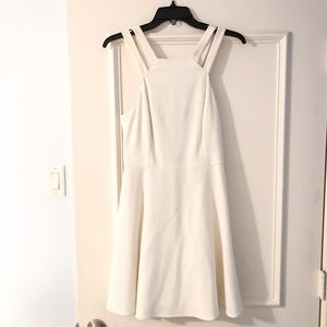 French Connection White Halter Top Dress